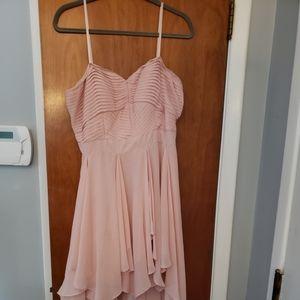Light pink Bohemian Handkerchief Cocktail Dress